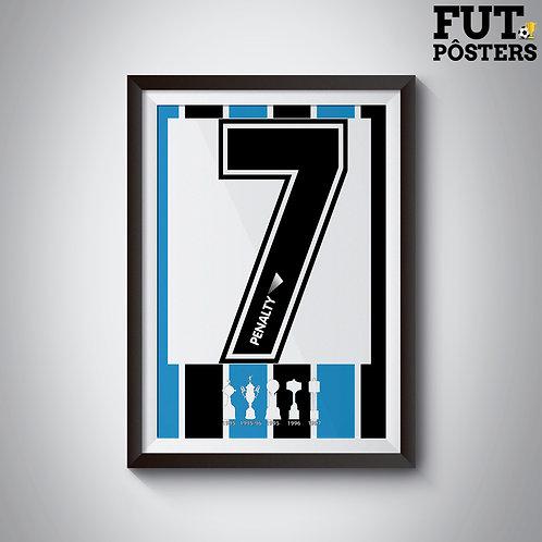 Pôster Idolos do Grêmio - Paulo Nunes - 29,7 x 42 cm (A3)