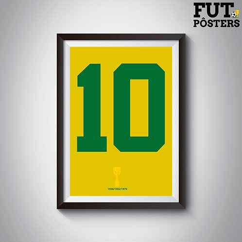 Pôster Idolos do Brasil - Pelé - 29,7 x 42 cm (A3)