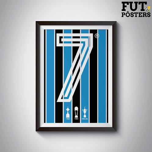 Pôster Idolos do Grêmio - Portaluppi - 29,7 x 42 cm (A3)