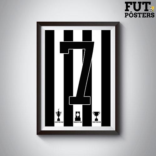 Pôster Idolos do Fogão - Garrincha - 29,7 x 42 cm (A3)