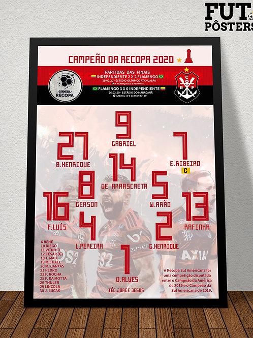 Pôster Flamengo Campeão da Recopa 2020 - 29,7 x 42 cm (A3)