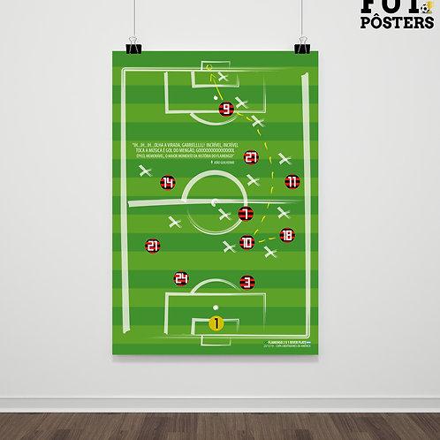 Pôster Lances Inesquecíveis - Gabigol Flamengo Libertadores - 29,7 x 42 cm (A3)