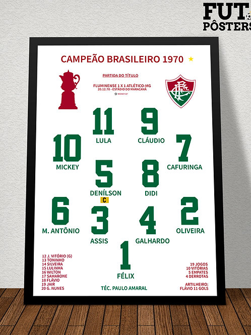 Pôster Fluminense Campeão Brasileiro 1970 - 29,7 x 42 cm (A3)