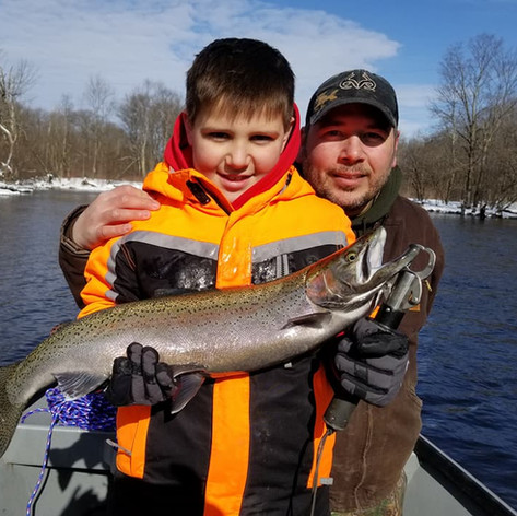 father and son steelhead!
