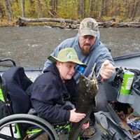 Father and son fishing, making dreams come true!