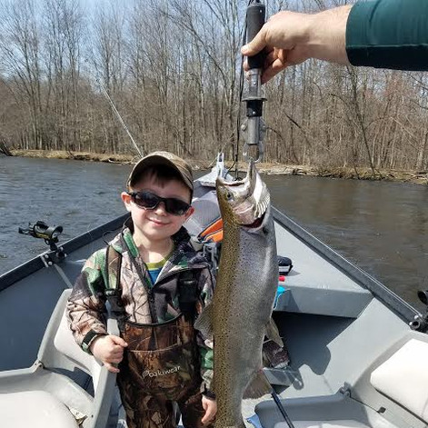 Quinton with a spring steelhead