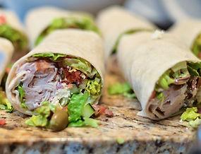 Yummy turkey wrap, tortilla around healt