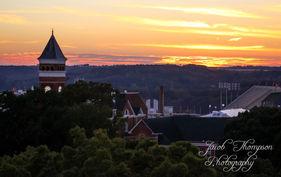Clemson sunset over tillman