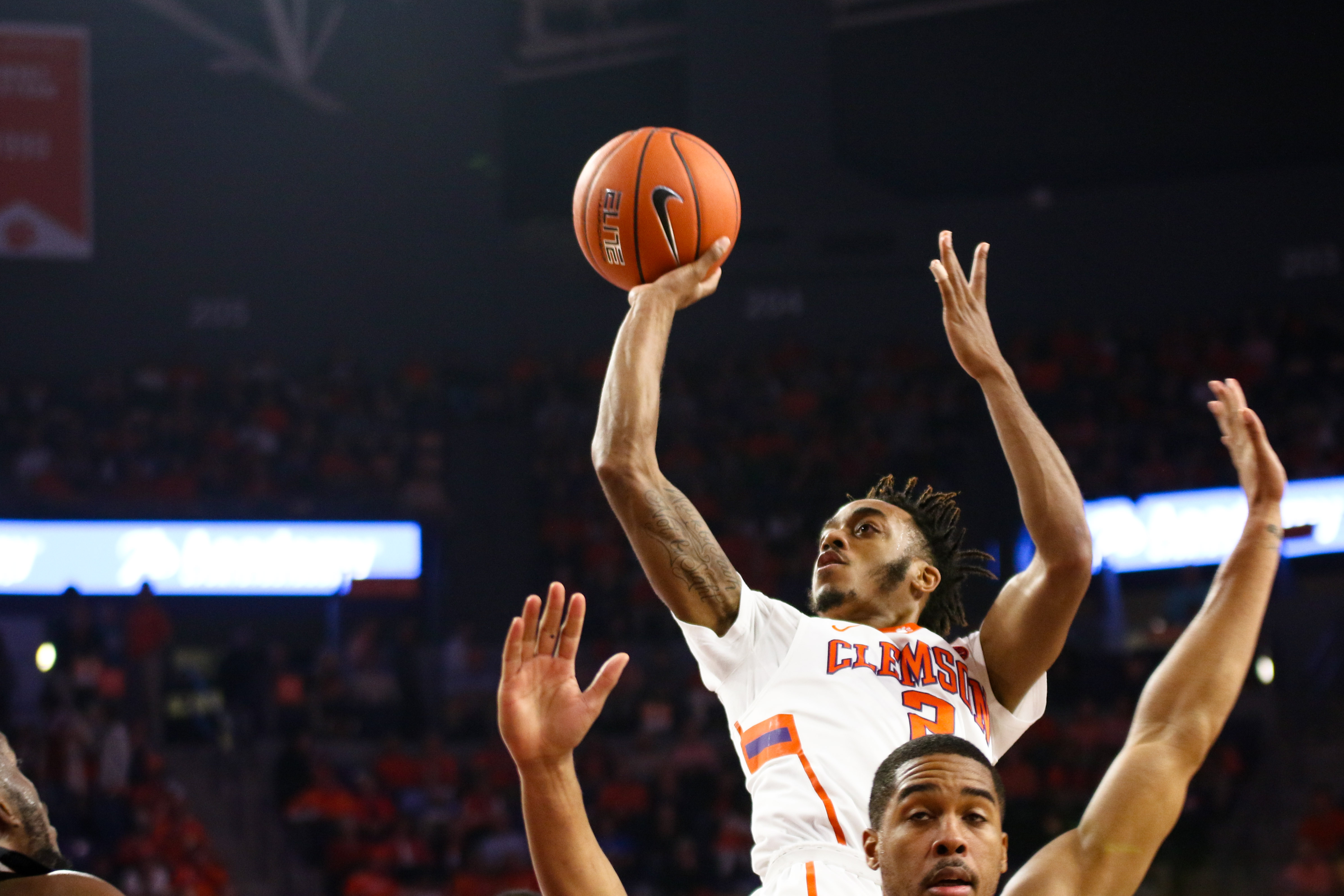 Clemson basketball shot