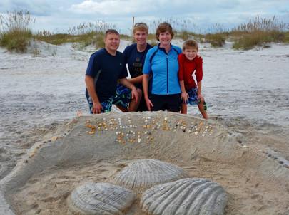 Jacob Thompson sand sculpture