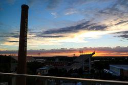 Clemson Football Memorial Stadium Death Valley sunset