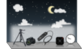 Items needed for astrophotography timelapse and star trail pictures