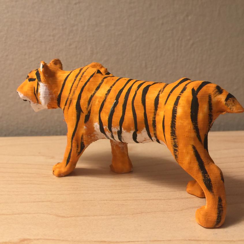 3D printed painted tiger