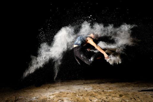 Flour flash photography