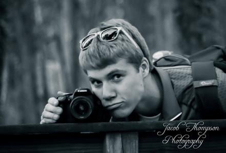 Jacob Thompson flirting with camera