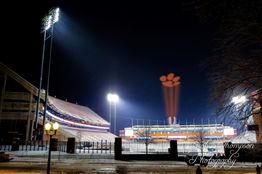 Clemson Football stadium Oculus tiger paw projection