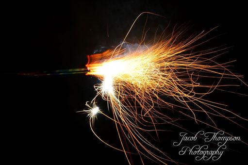 sparkler long exposure sparks