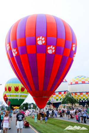 Clemson hot air balloon
