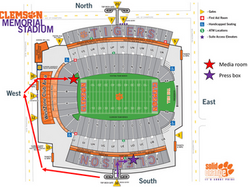 Shooting a Clemson Football Game:  My schedule