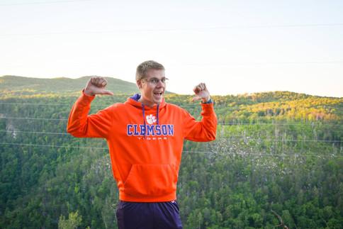 Jacob Thompson hiking