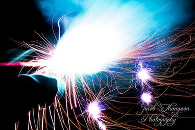 fireworks long exposure sparkler