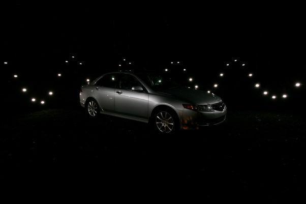 Car photography long exposure