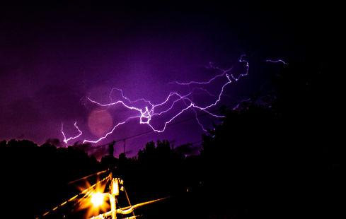 lightning long exposure