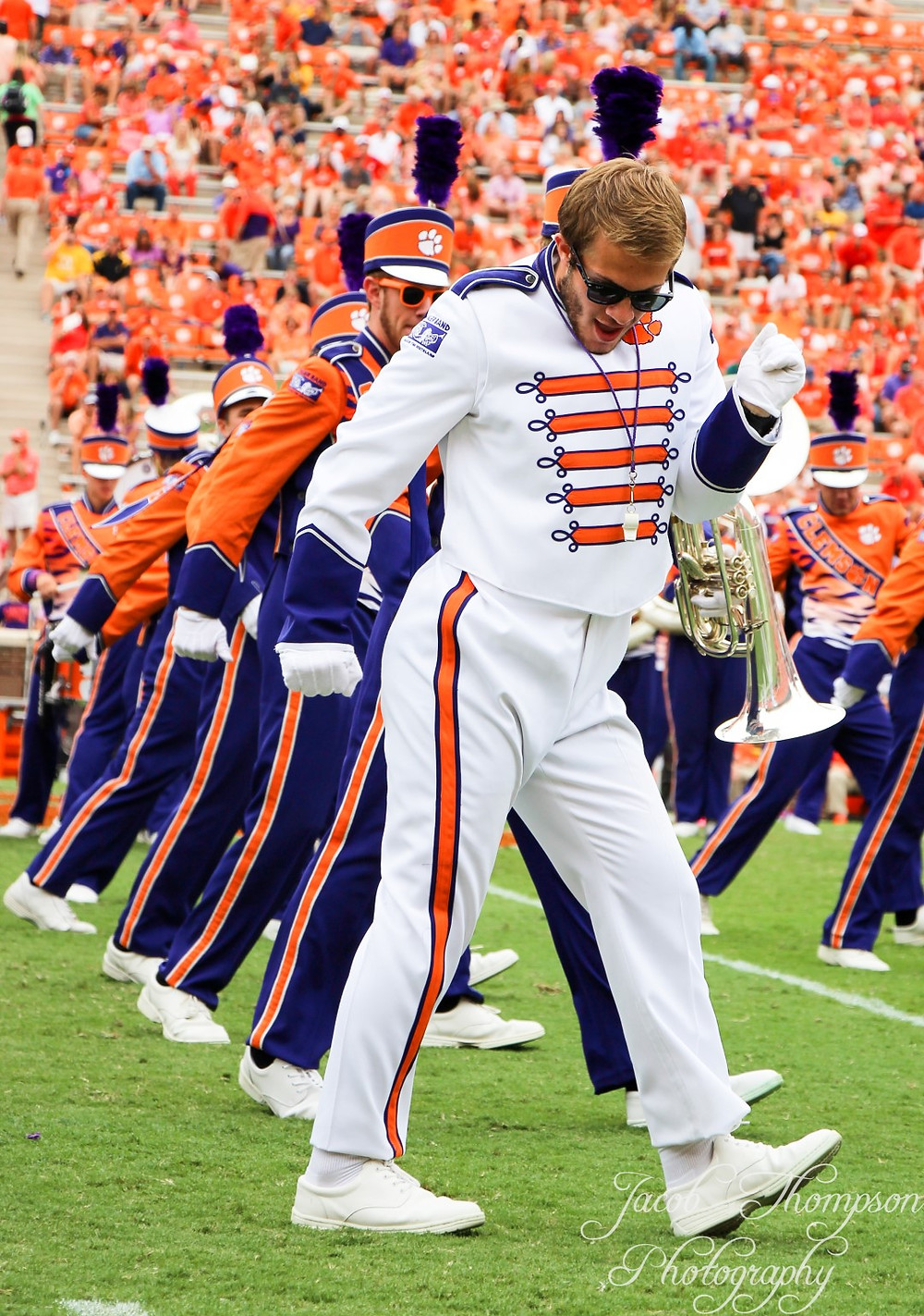 Clemson band halftime dance performance