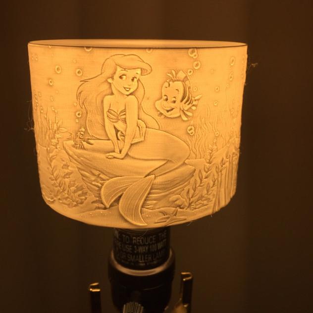 Mermaid lithopane 3D print