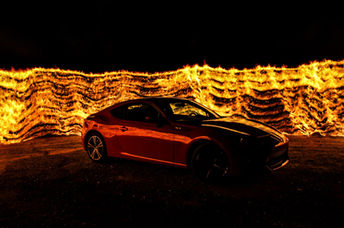 fire flames long exposure