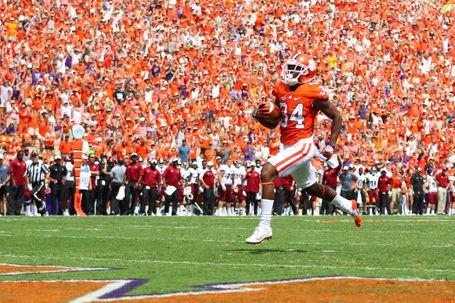 Clemson football touchdown run