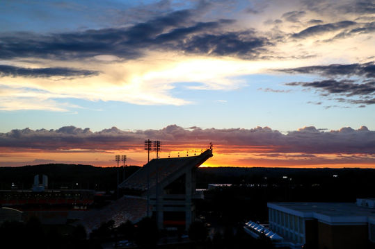 Clemson Death valley football sunset