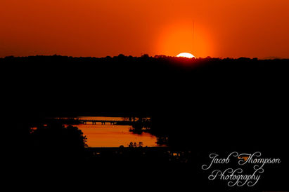 Clemson lake sunset