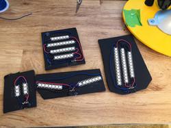 Individual LED segments for acrylic