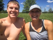 Jacob Thompson and Lauren Smith at a lake