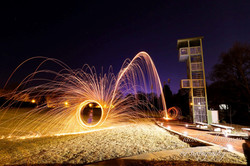 Steel wool long exposure light paint