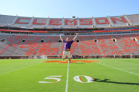 Jacob Thompson jumping in Death Valley