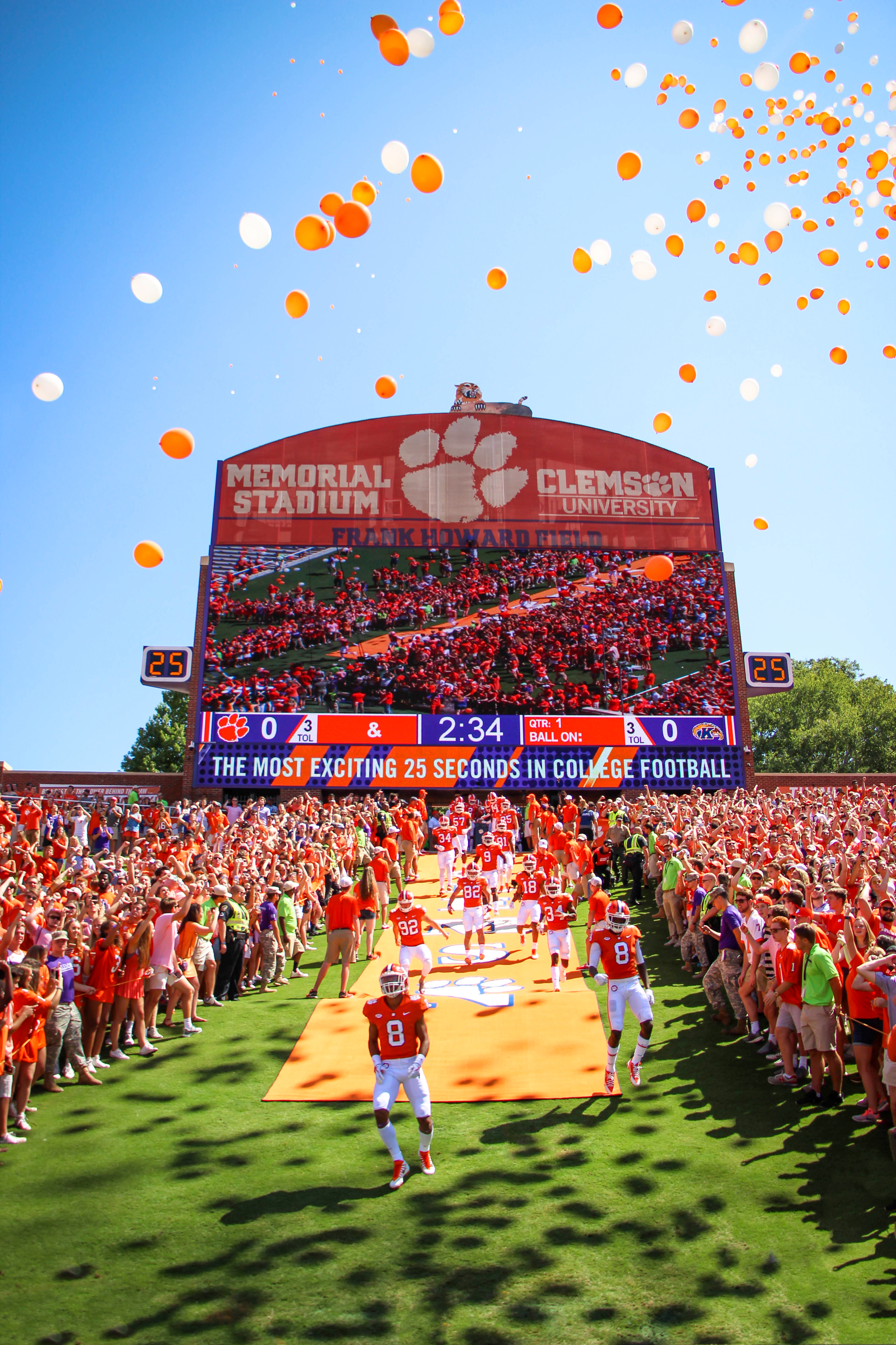 Clemson football pregame hill