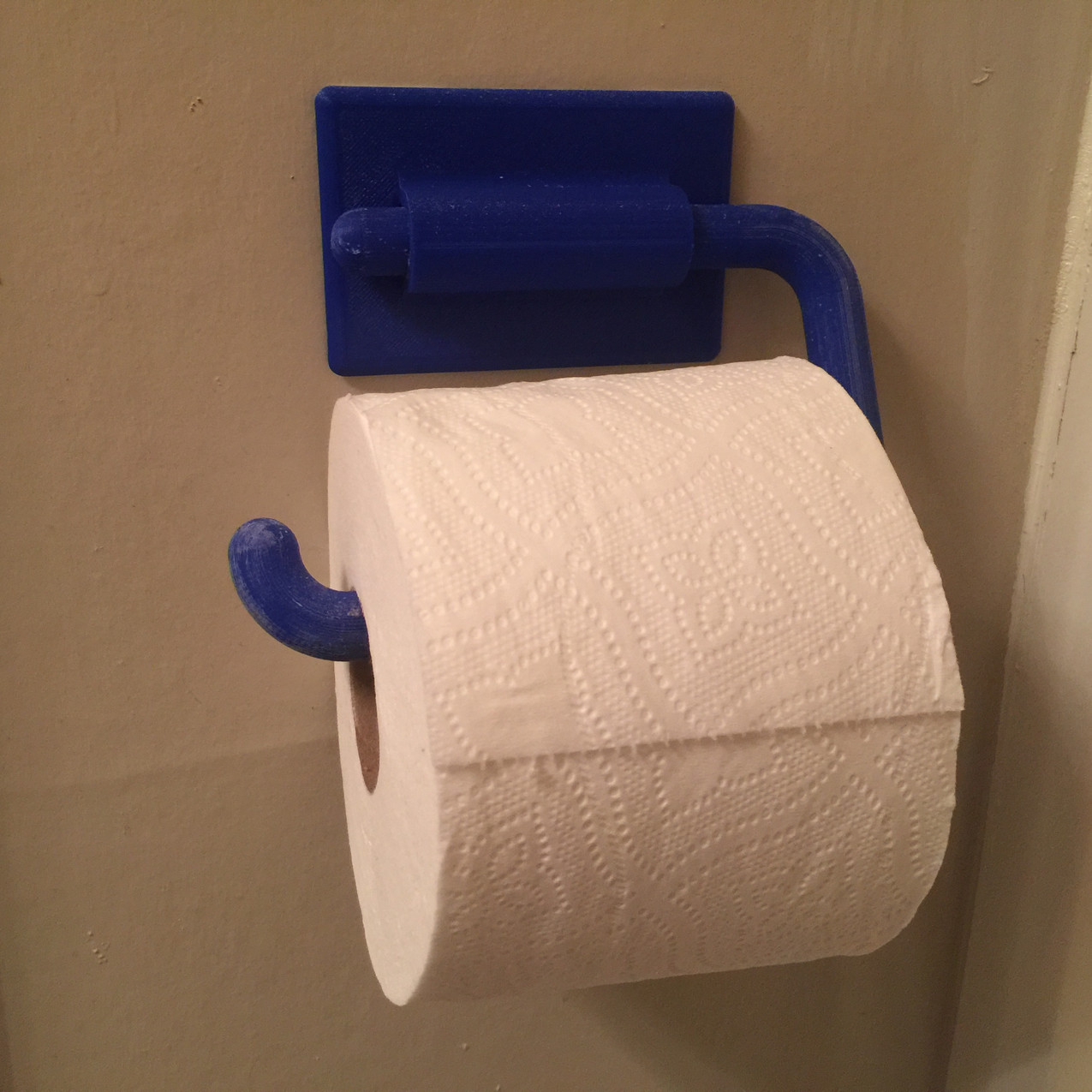 3D printed toilet paper roll holder