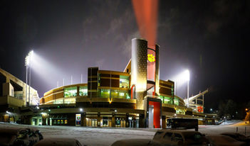 Clemson Football Memorial Stadium Oculus lights