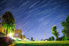 Star trails long exposure