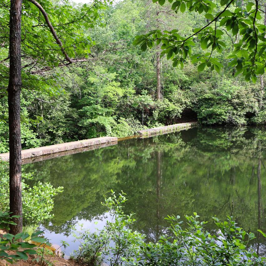 Paris Mountain Sulphur springs lake