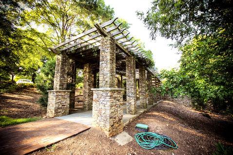 Clemson Botanical gardens stonework