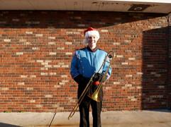 Jacob Thompson trombone band christmas
