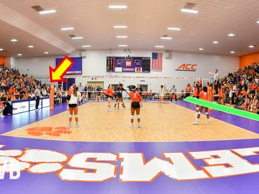 Shooting indoor Volleyball games