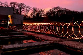Steel wool long exposure