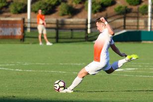 Clemson soccer kick