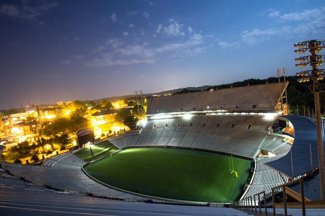 Clemson Football Memorial Stadium Death Valley night