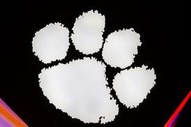 Clemson paw logo basketball littlejohn