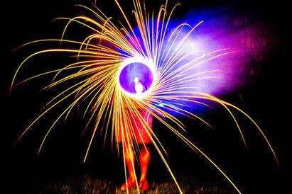 steel wool sparks